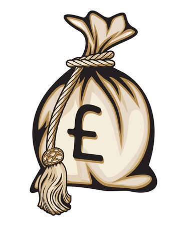 payday: Money bag with pound sign illustration