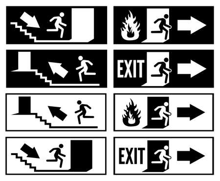 emergency exit sign Stock Vector - 18245459