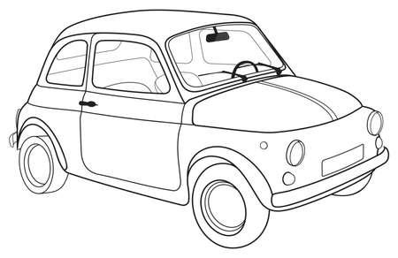 turin: Retro car outline