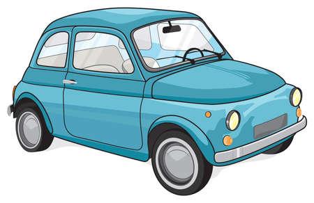 turin: Retro car Illustration