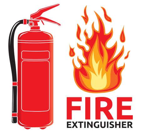 brandblusser teken Vector Illustratie