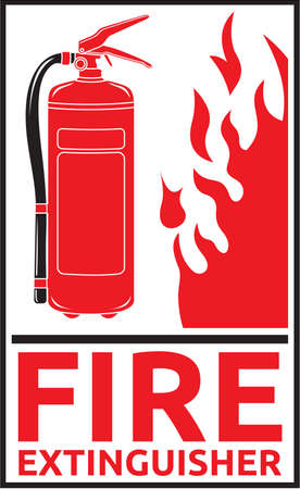 fire extinguisher symbol: fire extinguisher sign