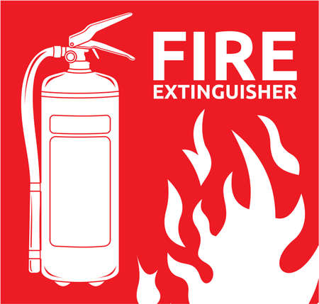 fire extinguisher sign Stock Vector - 18245455