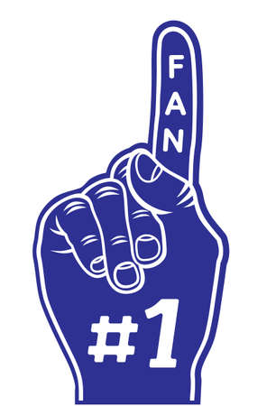 foam hand: foam finger - fan finger