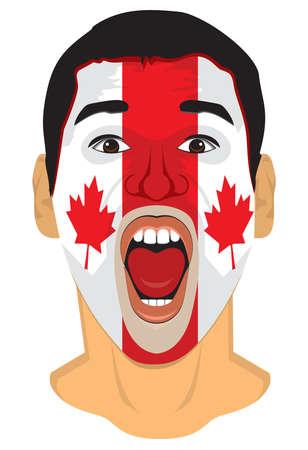 Canada fan face Vector