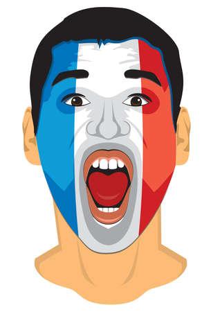 the proud: France fan face