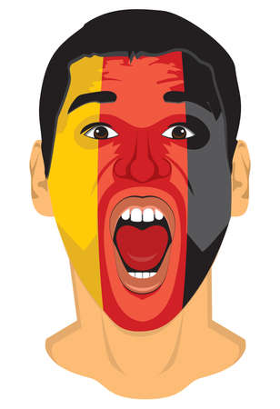 Germany fan face Stock Vector - 18332832