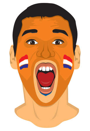 Netherlands fan face Stock Vector - 18332837