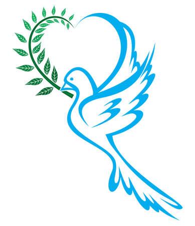 고요한 장면: 평화의 비둘기