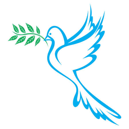 dove with olive branch: Dove of Peace