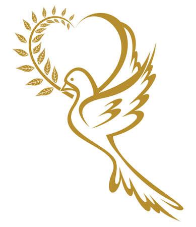 Oro Colomba della Pace Vettoriali