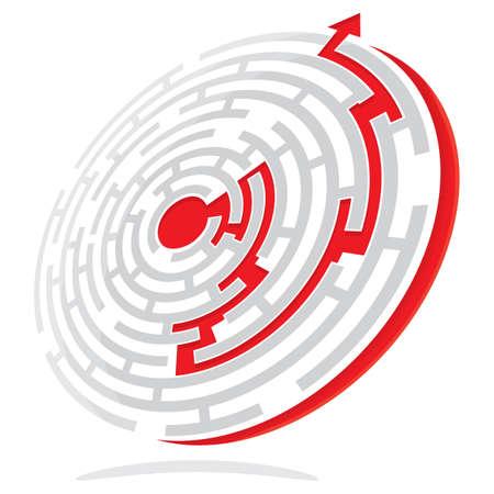 Maze Solution Stock Vector - 18245461