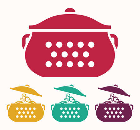 stew pot: Boiling pot Illustration