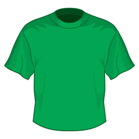 Green retro basic T-shirt Stock Vector - 18245567