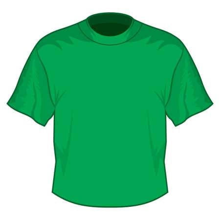 Green retro basic T-shirt Stock Vector - 18245567
