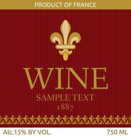 wine label design Stock Vector - 18245660