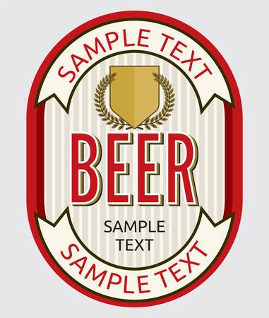 Beer label design Stock Vector - 18245666
