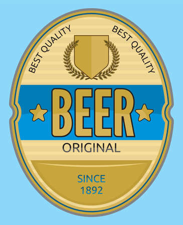 맥주 라벨 디자인 스톡 콘텐츠 - 18245658