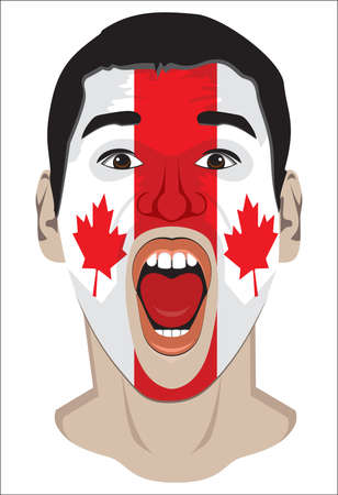 Canada fan face Vector