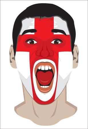 England fan face Stock Vector - 18245633