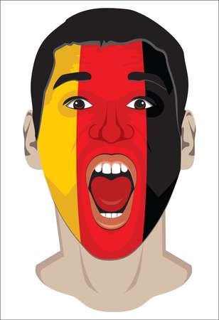 Germany fan face Stock Vector - 18245629