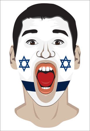 Israel fan face Vector