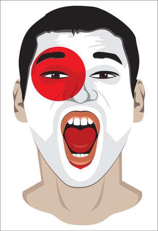 soccer fan: Japan fan face