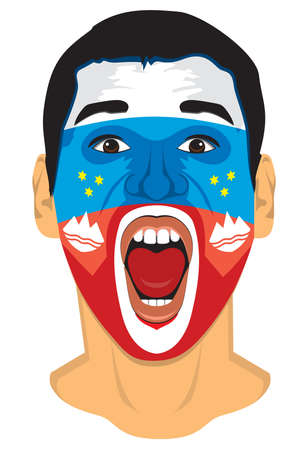 soccer fan: Slovenia fan face