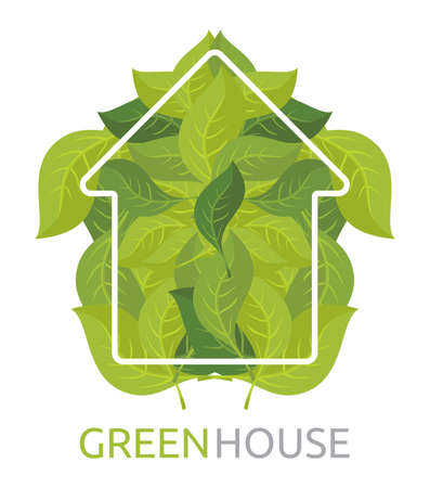 Green House Vector Vector