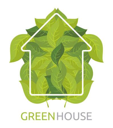environmentally: Green House Vector Illustration