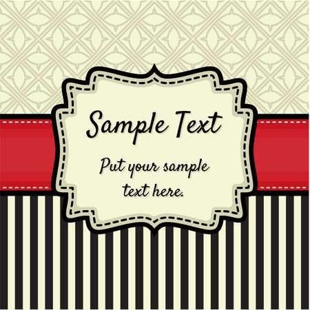 Retro greeting card template design Stock Vector - 18245617