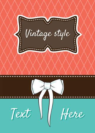 Retro greeting card template design Stock Vector - 18245609