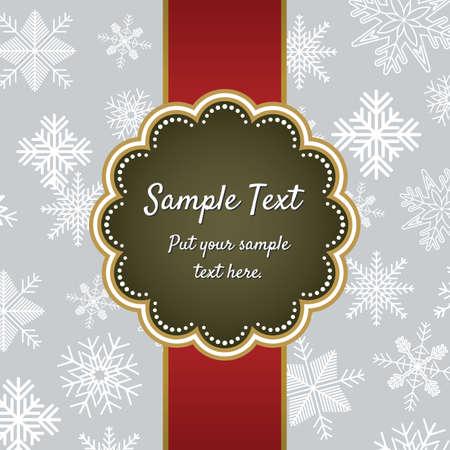 Christmas greeting card template design Stock Vector - 18245653