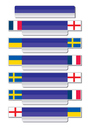 sweden flag: Group match template