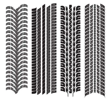 various tyre treads Stock Vector - 18245682