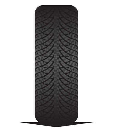 Car tyre - tire Illustration