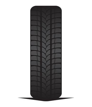 treads: Car tyre - tire Illustration