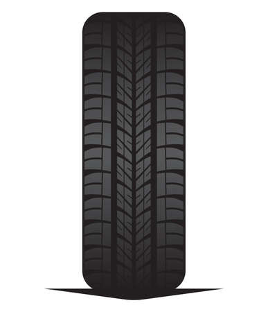 unused: Car tyre - tire Illustration