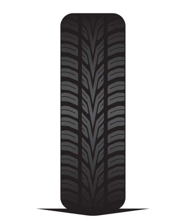 Car tyre - tire Stock Vector - 18245612