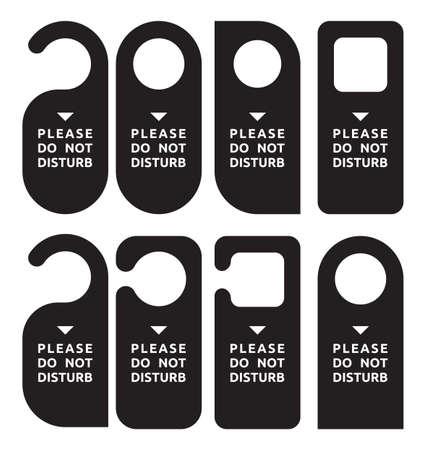 ручка: не беспокоить набор двери вешалки Иллюстрация