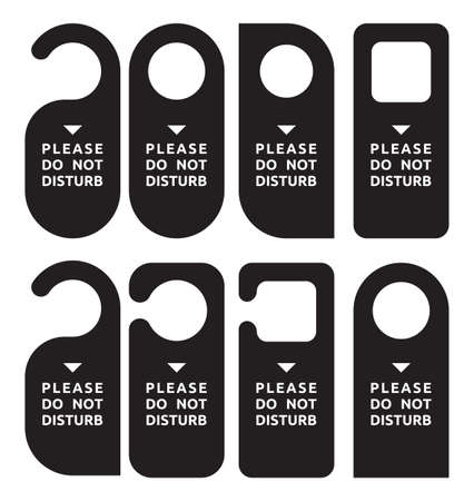 hotel lobby: do not disturb door hanger set