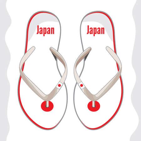 Japan flip flop sandals Stock Vector - 18332910