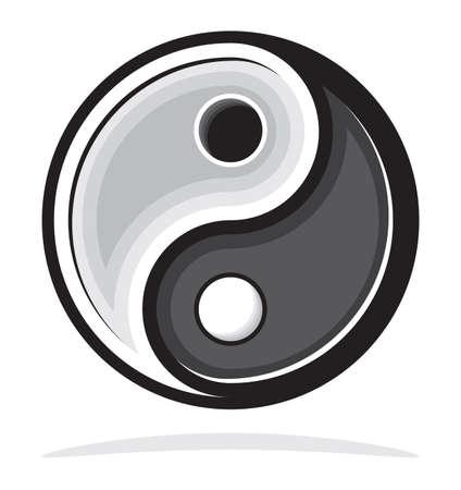 yan: Ying yang symbol of harmony and balance