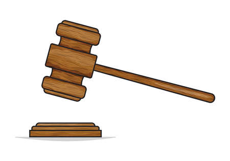 arbitrate: gavel - hammer of judge or auctioneer