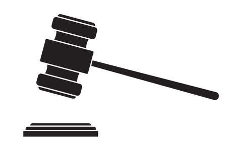 gavel - hammer of judge or auctioneer  Vector