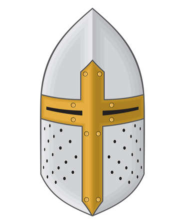 medieval knight: Iron helmet of the medieval knight