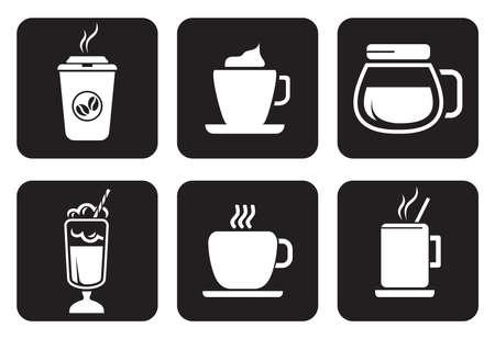 coffee pot: coffee icons set Illustration