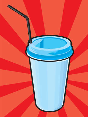 Plastic coffee cups with Vector