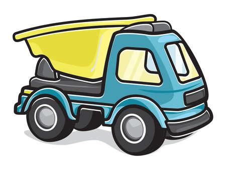 heavy machinery: Kids toy truck Illustration