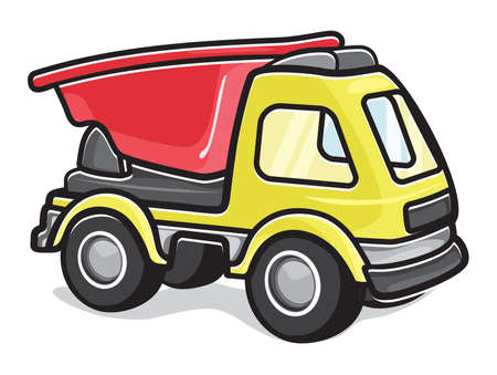 toy truck: Kids toy truck Illustration